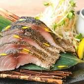 自家製ポン酢でどうぞ『金華サバ 〆サバの藁焼き』