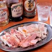 産地にはこだわらず、その日の一番いいものを一皿に。芳醇な肉の旨味を味わう『豚おまかせ盛り』