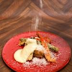 Wチーズの天ぷら ~ラクレット風~