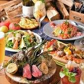 各種宴会にピッタリの2h飲み放題付きのコースは3000円~ご用意