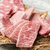 とろけるような肉の旨みを存分に『黒毛和牛 五種盛り合わせ』