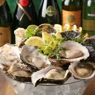 1個 ask。食べ比べセット ask。新鮮でプリプリ! 大粒の生牡蠣は各産地から旬のものを仕入れてご提供致します。