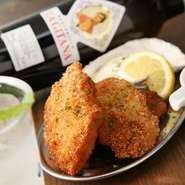 生牡蠣を食べたあとはカキフライも! 毎日手作り。