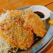 牡蠣料理をメインとしながらも海鮮料理から肉料理まで逸品料理の数々。幅広いお客様にご利用していただいております。