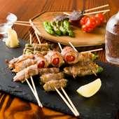 飲み頃の日本酒と味わいたい旬の野菜の創作串