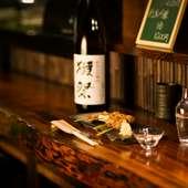季節ごとのオススメの品や飲み頃の日本酒も用意