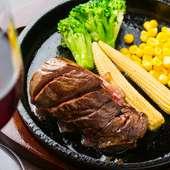 鉄板 牛ハラミステーキ