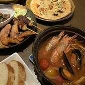 冬期限定のコース料理で登場する『トマ味噌ブイヤベース』