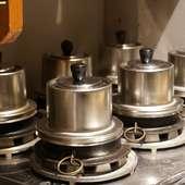釜で炊く銀シャリ