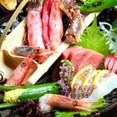 四季折々の旬の素材を目で楽しみ、食して口福を得ていただく、五感でお楽しみ下さい。