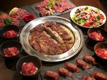 牛ステーキも豚もガッツリ楽しむ宴会コース