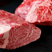 お肉、1番は黒毛和牛。特にホルモンには自信あり