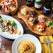 イタリア料理が大好きな西村氏。だからこそ「自慢の料理を一つには決められない」とか。「魚を使ったメニューを中心に、パスタ、野菜、肉料理、どれをお召し上がりいただいても自慢です」と、話します。