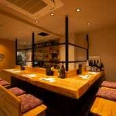 食材にこだわる本格和食が魅力。個室も備え、多彩なシーンに対応