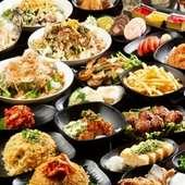 料理70品飲み物70種食べ飲み放題2000円。もつ鍋フェア開催中!