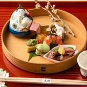 日本酒に合わせて楽しみたい、季節の食材をふんだんに用いた『八寸』