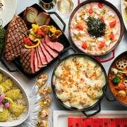 お友達や大切な方と、旬の食材を使用したコース料理でゆっくりとした時間をお過ごしください。