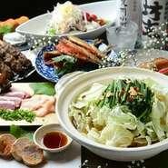 馬刺、地鶏&黒豚の炭火焼など九州の美味しい食材を使用したお得な飲み放題付各種コース2,980円よりご用意しております。