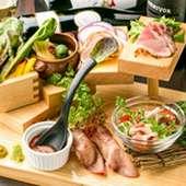 当店自慢の肉寿司5種盛り