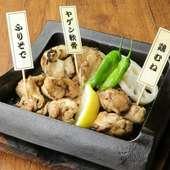 新潟県産越の鶏の炭火焼き
