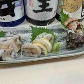 ぜひ食べたい!鮮度抜群の貝が揃った『貝刺身盛り合わせ アワビ付』