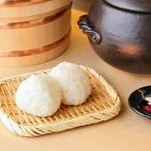 こだわりのお米で握る『おむすび』