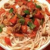 トマト肉麺