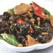 キクラゲと肉の炒め