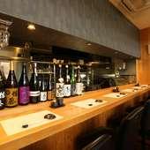 訪れるたびラインナップが変わる日本酒、焼酎の品ぞろえも充実