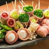 『博多串焼&野菜巻き』3H飲み放題付『九州料理全36品食べ放題コース』