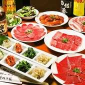華やかさと彩りある絵が2人を演出、新宿×焼肉デート!