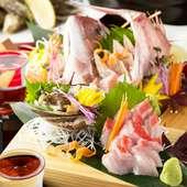 瀬戸内鮮魚使用のお造り盛り合わせ
