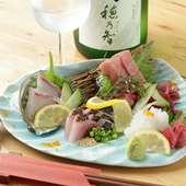 新鮮な魚介の旨みをそのままに、四季の移ろいを表現
