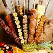 ◆シュラスコランチプラン◆15種類シュラスコ食べ放題+サイドメニュー3品 金額-3