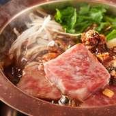 牛鍋伝承の地、横浜ならではの歴史を感じながら食す『濱牛鍋 黒毛和牛ロース』