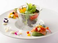 日替わりの温菜料理のひと品『玄界灘産あらかぶのアクアパッツァ』