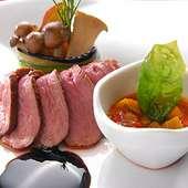 合鴨胸肉のタリアータ モデナ産バルサミコソース