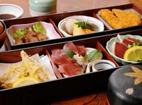鹿籠豚やぶえん鰹などを使った人気メニューを少しずつ愉しめる『枕崎駅膳』