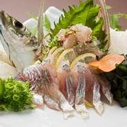 長浜漁港から毎日旬の活魚が入荷しております