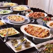 週末の金、土、日曜日のディナータイムに惣菜バイキング始めました。手頃な価格で子供から年配の方まで楽しんで頂ける料理内容にしています。1人800円 小学生以下600円。メニューと一緒に頼めば1人500円でお得