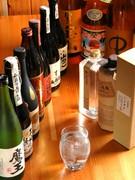 焼酎をはじめ、お酒の品揃えも豊富です。