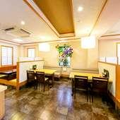最大50名までの宴会場も完備している、川魚割烹料理店