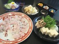 夏が旬のはも 前菜、落とし、天ぷら又は焼物、しゃぶしゃぶ、雑炊、香の物