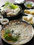 魚隆冬の名物コースです。ふぐ料理始めて25年産直仕入れで天然とらふぐにこだわっています味が違います!!