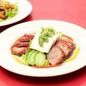 豆腐と自家製チャーシューの冷菜