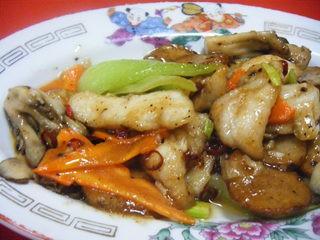 ■季節の特選メニュー「パート2」白身魚と季節野菜の唐辛子炒め