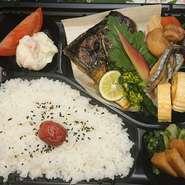 肉厚、脂ののった和の焼き魚の大堂を贅沢に! 特別に仕入れた大サバを使用しています。