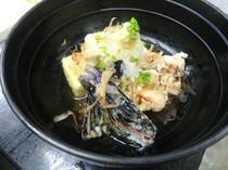 若鶏と秋茄子の揚げ出し豆腐