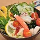 和風サラダ ボリューム満点のサラダです。