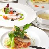 吟味した素材を使った体にやさしく美味しい料理が楽しめます。